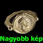 Pénzérméből készült gyűrű